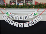 Christmas tree banner - holiday home decor - Celebrating Together