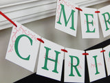 up close view of Merry Christmas sign hung on mantel - Celebrating Together