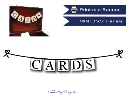 Printable Mini Cards Banner