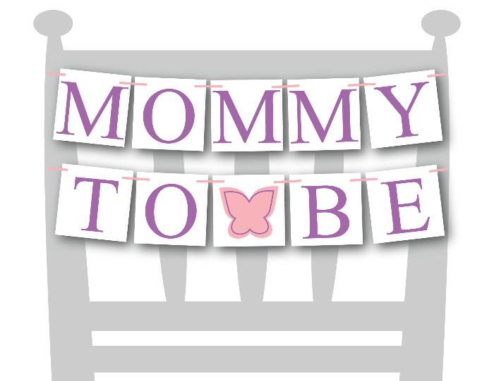 printable butterfly mommy to be chair banner - DIY baby shower decor - Celebrating Together
