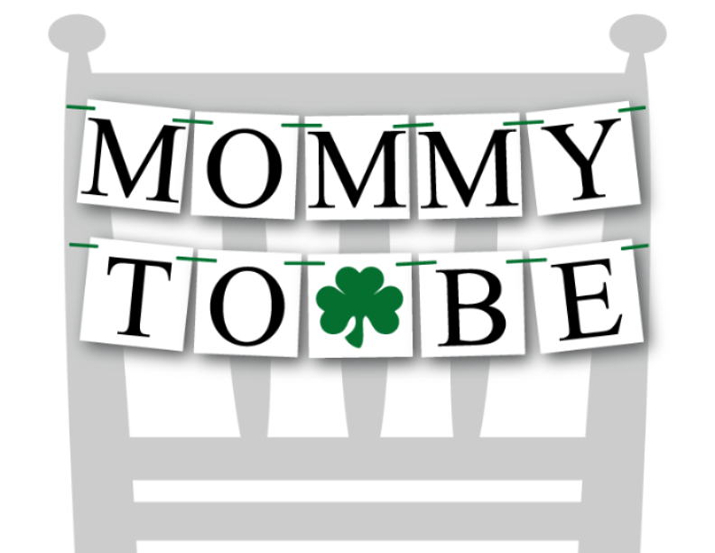 shamrock printable mommy to be chair banner - st patricks day party - Celebrating Together