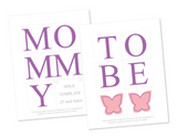 diy mommy to be chair sign - printable butterfly baby shower decorations - Celebrating Together