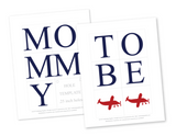 DIY mommy to be chair banner - plane themed aviation baby shower decoration - Celebrating Together