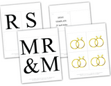 diy mr and mrs banner - printable bridal shower sign - Celebrating Together
