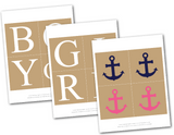 printable lettering for anchor boy or girl banner - Celebrating Together