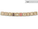 DIY boy or girl banner - nautical baby shower decoration - Celebrating Together