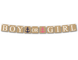printable gender reveal banner - nautical boy or girl banner - Celebrating Together