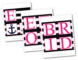 diy anchor bride to be banner - printable nautical bridal shower decorations - Celebrating Together