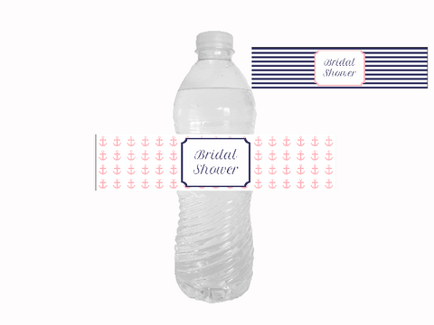 Printable bridal shower water bottle labels - Celebrating Together