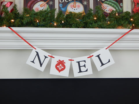 Noel banner - Christmas decor and holiday decoration - Celebrating Together