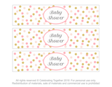 page of printable baby shower drink bottle wraps - Celebrating Together