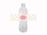 DIY confetti baby shower water bottle labels - Celebrating Together