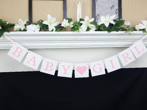 baby girl banner - baby shower decor - Celebrating Together