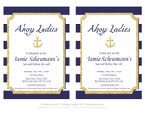 DIY editable nautical bridal shower invitation - Celebrating Together