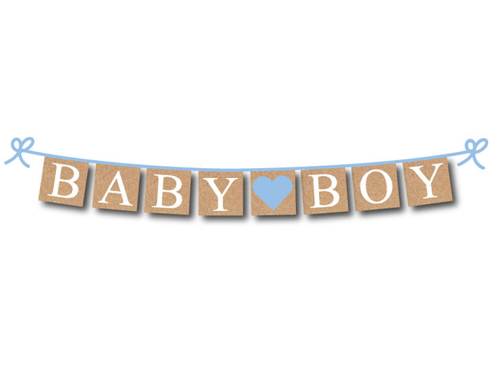 rustic baby boy banner - baby shower decoration - Celebrating Together