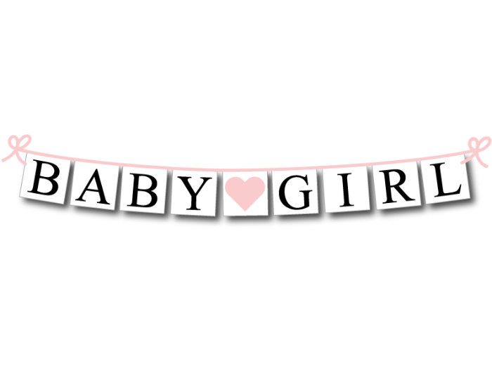 Baby Girl Banner Baby Shower Banners And Gender Reveal Party Decor Celebrating Together