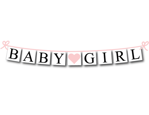 baby girl banner - baby shower decoration- Celebrating Together