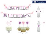 DIY butterfly birthday party decor kit - Celebrating Together