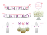 printable butterfly birthday party decoration bundle - Celebrating Together