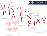 printable red happy valentine's day banner - Celebrating Together