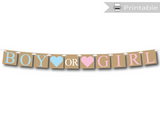 printable boy or girl baby shower banner - Celebrating Together