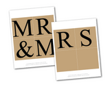 rustic mr and mrs banner printable - diy wedding decor - Celebrating Together