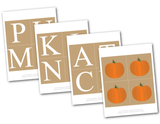 Printable pages for DIY pumpkin patch banner - Celebrating Together