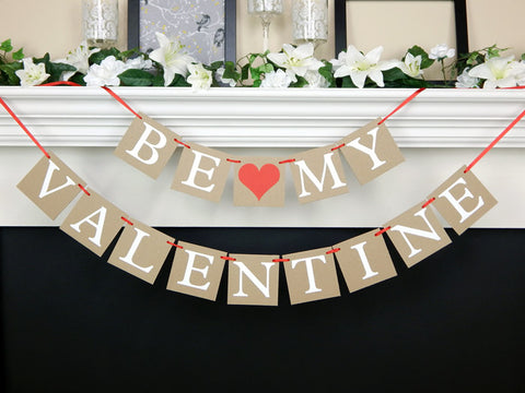 rustic be my valentine banner - Celebrating Together