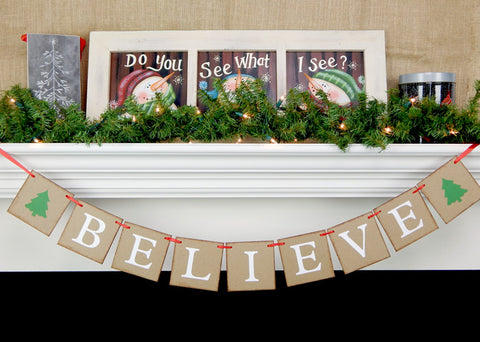 believe banner with Christmas trees - Celebrating Together