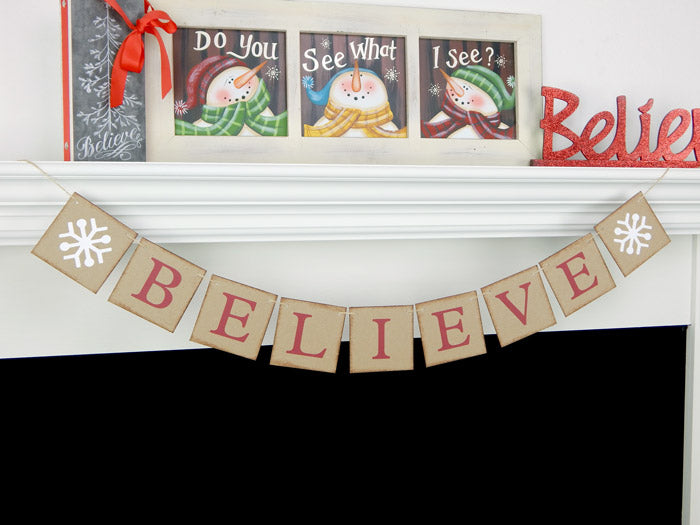 believe banner with snowflakes - Celebrating Together