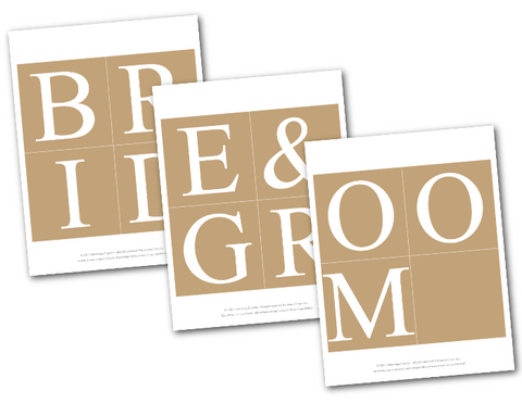 banner template lettering for bride and groom banner - DIY rustic bridal shower banner - Celebrating Together