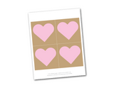 printable hearts for diy bride and groom sign - Celebrating Together