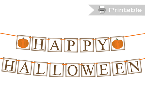 printable rustic happy halloween banner - Celebrating Together