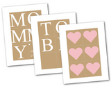 diy mommy to be banner - rustic baby shower decorations - Celebrating Together
