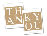 printable thank you banner - DIY rustic wedding decor - Celebrating Together