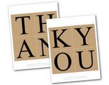 printable template for rustic wedding thank you banner - Celebrating Together