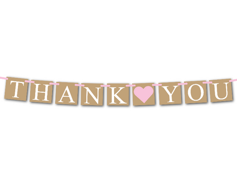 printable rustic thank you banner - Celebrating Together