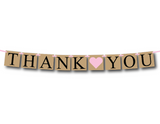 rustic printable thank you banner - Celebrating Together