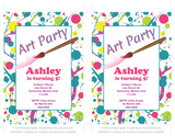 DIY paint party invitations - Celebrating Together