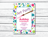 printable splatter print birthday invitations - Celebrating Together
