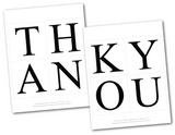 printable lettering for diy wedding thank you banner - Celebrating Together