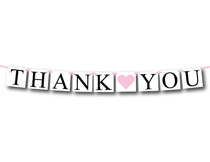 printable thank you banner - Celebrating Together