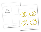 printable gold wedding rings for diy wedding banner - Celebrating Together