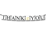 printable thank you banner with wedding rings - Celebrating Together