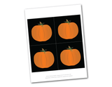 printable pumpkins for DIY trick or treat banner - Celebrating Together