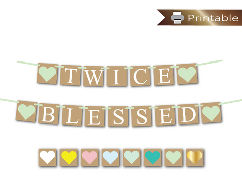 rustic twice blessed banner - Celebrating Together