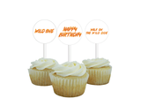 DIY wild one birthday party cupcake toppers - Celebrating Together