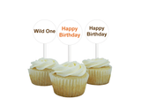 printable safari happy birthday cupcake toppers - Celebrating Together