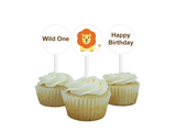 printable lion cupcake toppers - Celebrating Together
