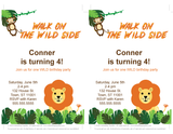 printable safari birthday party invitations - Celebrating Together